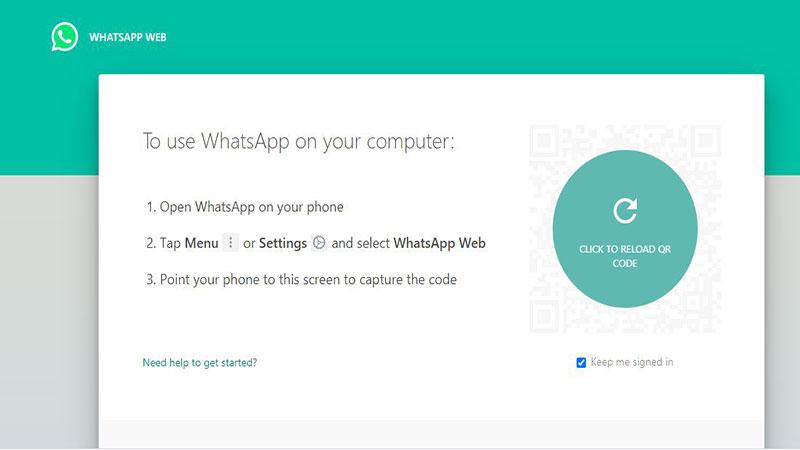 اسکنQR برای استفاده واتساپ وب